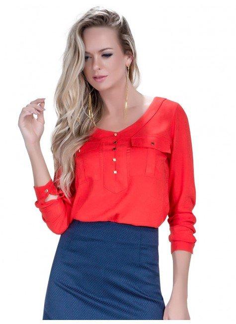 blusa laranja verao feminina principessa safira look