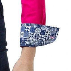 detalhe camisa social pink feminina principessa danny estampa