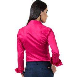 detalhe camisa social pink feminina principessa danny estampa modelagem