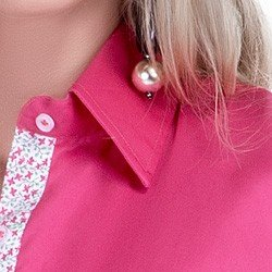 detalhe camisa pink feminina social principessa cecilia