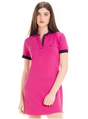 Vestido Gola Pólo Pink Principessa Andrieli 65a18566c4bef