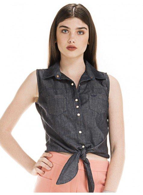 camisa regata jeans amarrar cintura principessa cleyde look