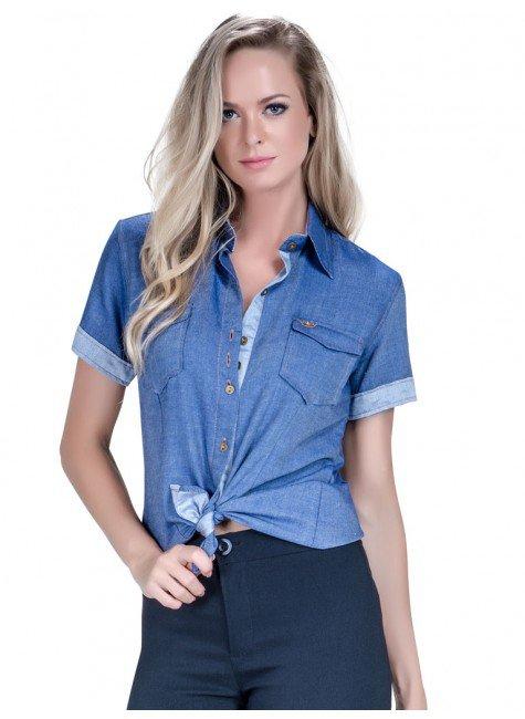 camisa manga curta jeans principessa sophia look