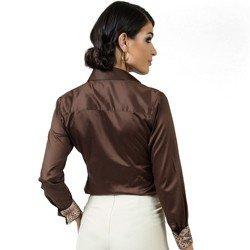 camisa premium fio egipcio principessa anelise detalhes modelagem