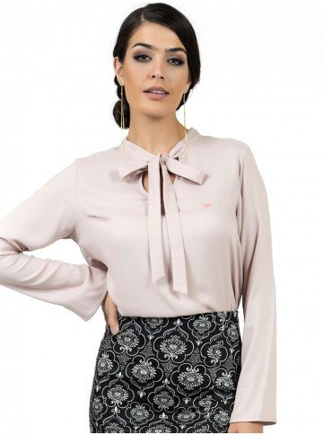 blusa feminina com laco principessa geyse look