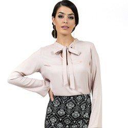 blusa feminina com laco principessa geyse look detalhe loo