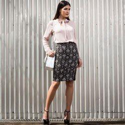 foto conceito blusa com laco geyse comprar look completo