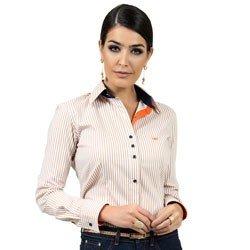 camisa listrada com elastano principessa fernanda detalhes look