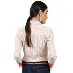 camisa listrada com elastano principessa fernanda detalhes modelagem
