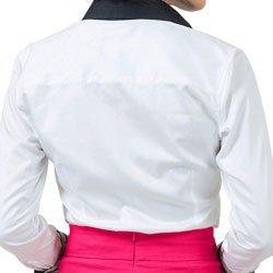 camisa social branca premium principessa gisele detalhe algodao fio egipcio