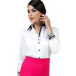 camisa social branca premium principessa gisele detalhe look