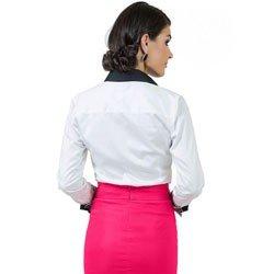 camisa social branca premium principessa gisele detalhe modelagem