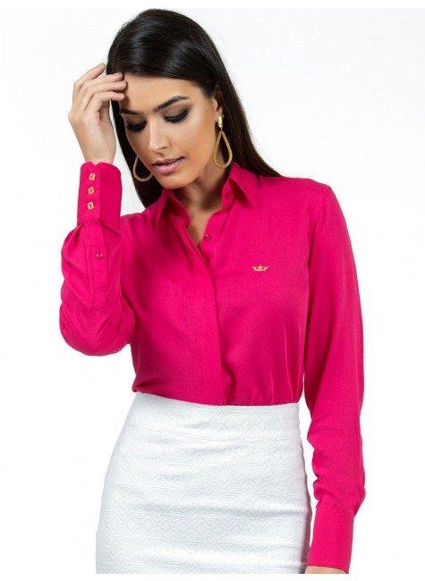 camisa feminina social pink principessa nislene look