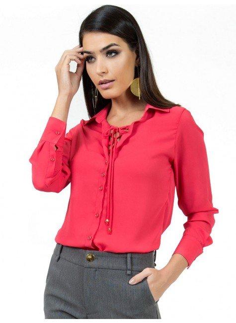 camisa com amarracao principessa rose look