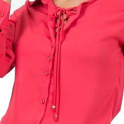 camisa com amarracao principessa rose look amarracao detalhe