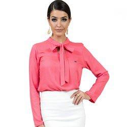 blusa feminina com laco principessa maira look detalhe look