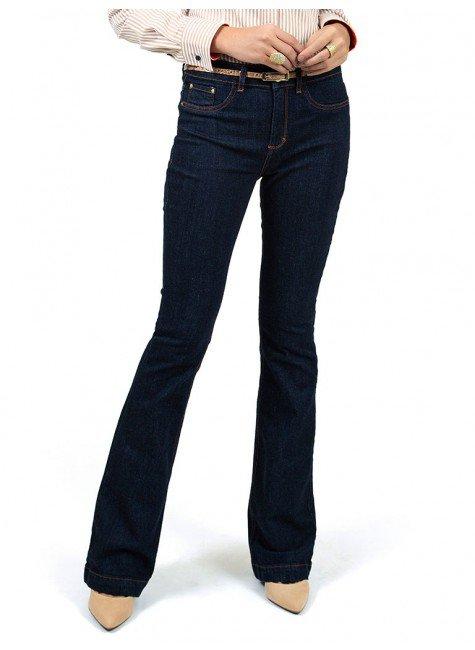 calca jeans flare denim zero
