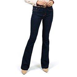 calca feminina jeans flare principessa denim zero