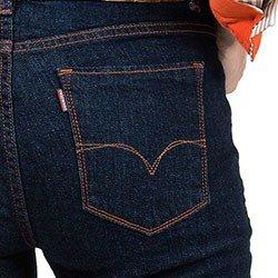 detalhes calca jeans flare denim zero