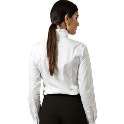 camisa branca com laco principessa perola detalhe modelagem