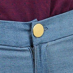 calca bengaline jeans principessa filipa cintura alta detalhes