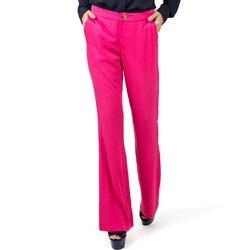 calca flare pink cintura media principessa gabriela detalhe look
