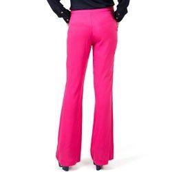 calca flare pink cintura media principessa gabriela detalhe modelagem