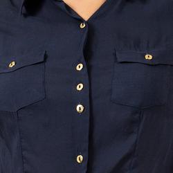 camisa social marinho principessa izabel botao dourado