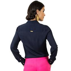 camisa social marinho principessa izabel modelagem