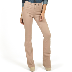 detalhes calca jeans flare cintura cappuccino dz2459 look