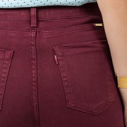 detalhes calca jeans flare cintura burgundy dz2459 costa