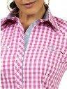 camisa xadrez rosa principessa debora logo