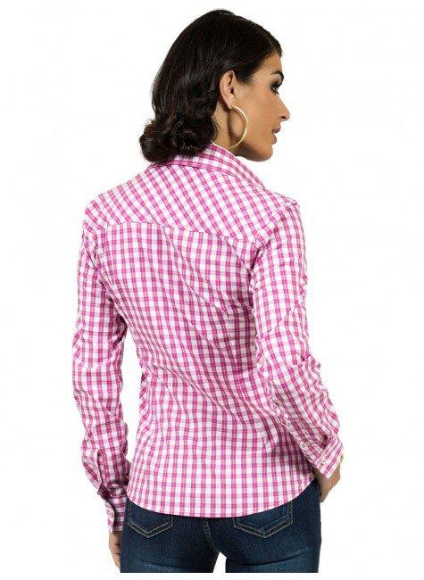 ... camisa xadrez rosa principessa debora look costa ... ee7547e317cec