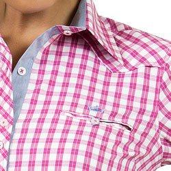 detalhes camisa xadrez rosa principessa debora