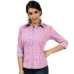 detalhes camisa xadrez rosa principessa debora look