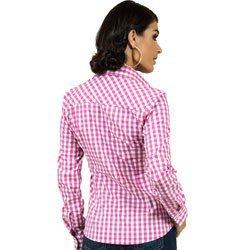 detalhes camisa xadrez rosa principessa debora modelagem