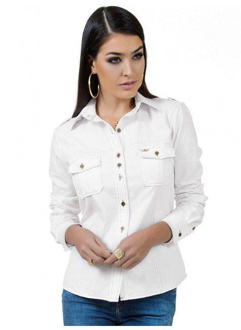 camisa oxford branca principessa lidia look