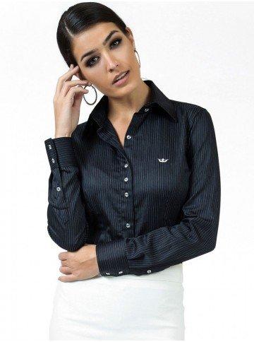 camisa classica premium principessa penelope preta look
