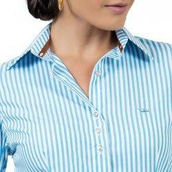 detalhe camisa premium listrada azul principessa jennifer detalhes