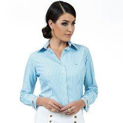 detalhe camisa premium listrada azul principessa jennifer look