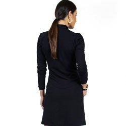 detalhe vestido polo preto manga longa principessa juliana malha
