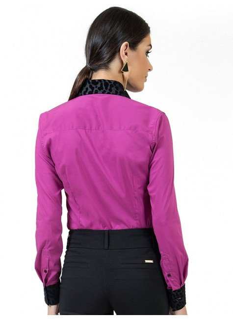 ... camisa social feminina violeta principessa gloria maria ... a8edfb31a0cbb