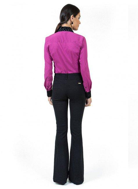 Camisa com Elastano Violeta Principessa Glória Maria a60a84290e023