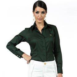 camisa social feminina maquinetada principessa fatima look