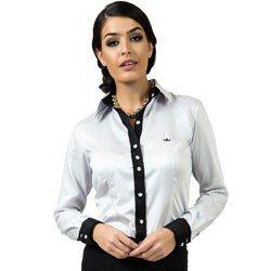 camisa social premium acetinada principessa nicola look