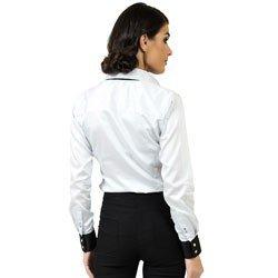 camisa social premium acetinada principessa nicola modelagem