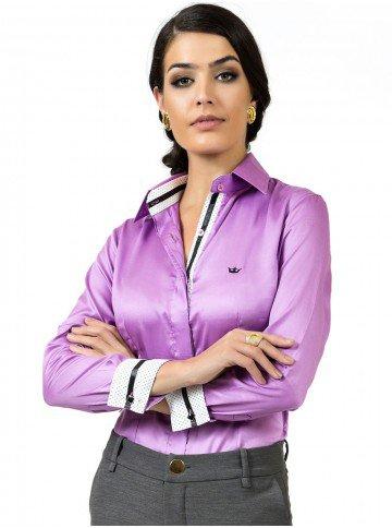 camisa fio egipcio acetinado premium principessa glaucia look