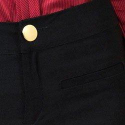 detalhe calca flare cintura alta preta principessa filomena bolso