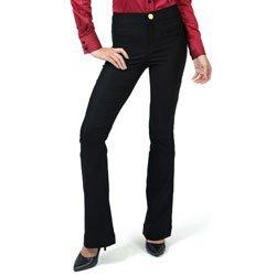 detalhe calca flare cintura alta preta principessa filomena look