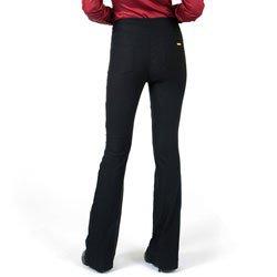 detalhe calca flare cintura alta preta principessa filomena look costa